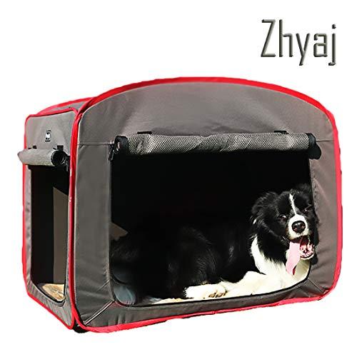 Zhyaj Hundezelt, Faltbar Tragbar Tierträger Belüftung Atmungsaktiv Hundehütte Outdoor Meerschweinchen Käfig Waschbar Hundebett,B,M
