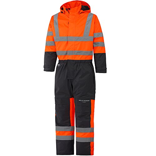 Helly Hansen Workwear Warnschutz Wetterschutz-Overall Alta Suit CL3 wasserdichter isolierter Winter-Arbeitsanzug 269 52, orange, 70665