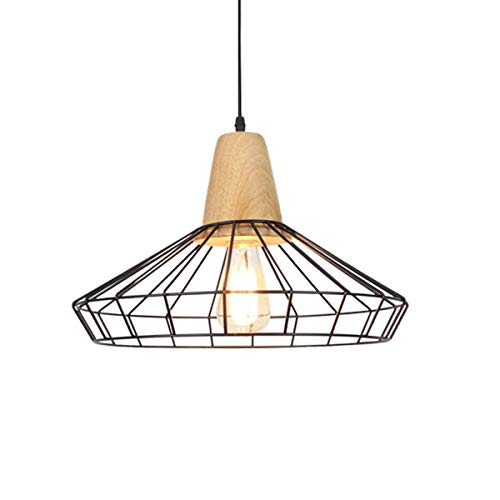Jasmin FS Suspension Industrielle Vintage Suspendue éclairage Lustre lumière en métal lumière Suspendue équipement Lampe Art Deco Cage Lustre LED (Couleur : AC 110V, Taille : Blanc Chaud)