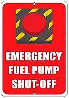 予告標識危険標識警告標識緊急燃料ポンプシャットオフハザード標識非常用ティンストリート屋外装飾