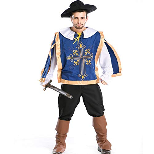 LOTOTLOMCA Cosplay Oficial De Real Cosplay Pirata Uniforme De Disfraces, Que Incluye Sombrero + Ropa + Forro + Pantalones + Funda para Los Pies, Adecuado para Primavera, Verano, Otoño, Invierno
