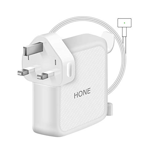 Compatible With Mac Book Air Charger, Works With 60W Power Adapter Magnetic 2 T-Tip Power Adapter Charger for Mac Book Pro with 13-inch, Works With 60W & 45W 2012 Late