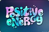 Grindstore Positive Energy - Pequeño signo de lata azul, 15 x 10 cm