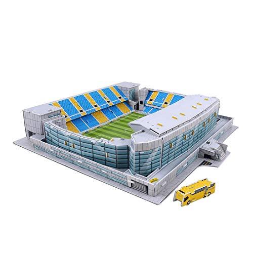 Kw tool Estadio 3D Jigsaw, Ramón Carranza (Cádiz CF) 3D Puzzle DIY Juguete Educativo Juego de construcción de fútbol Regalos de cumpleaños para niños y niñas