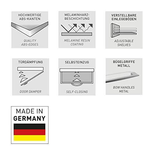 Germania 3779-531 GW-Topix Sideboard   In Weiß und Beton-optik   192 x 87 x 40 cm
