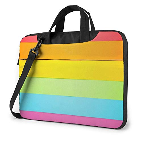 15.6 inch Laptop Shoulder Briefcase Messenger Pride Concept Rainbow LGBT Flag Tablet Bussiness Carrying Handbag Case Sleeve