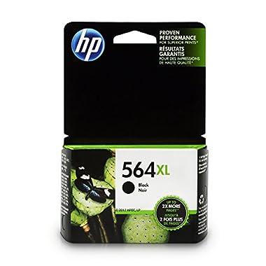 HP 564XL Black Ink Cartridge, High Yield (CN684WN) for HP Deskjet 3520 3521 3522 3526 HP Officejet 4610 4620 4622 HP Photosmart: 5510 5512 5514 5515 5520 5525 6510 6512 6515 6520 6525 7510 7515 7520 7525 B8550 C6340 C6350 D7560 C510 B209 B210 C309 C310 C410 C510