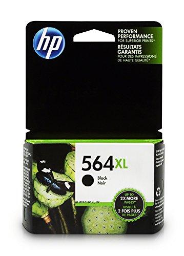HP 564XL Black Ink Cartridge (CN684WN) for HP Deskjet 3520 3521 3522 3526 HP Officejet 4610 4620 4622 HP Photosmart: 5510 5512 5514 5515 5520 5525 6510 6512 6515 6520 6525 7510 7515 7520 7525 B8550 C6340 C6350 D7560 C510 B209 B210 C309 C310 C410 C510 (Packaging may vary)
