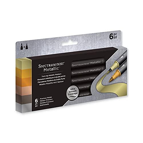 Spectrum Noir - Rotuladores Metálicos - Paquete de 6 - Metales Preciosos