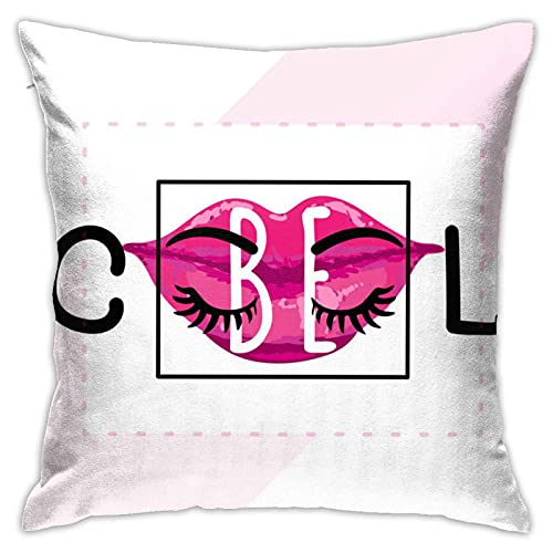 XCNGG Be Cool Inspirational Quote Throw Pillow Case Decorativo para el hogar para la Sala de Estar Dormitorio Sofá Silla 18X18 Pulgadas Funda de Almohada 45X45cm