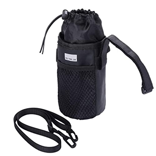 Qingsi 1 bolsa de botella de agua para bicicleta, manillar de bicicleta, soporte para bebida, vástago aislado, bolsa de botella de agua para bicicletas de uso diario