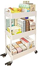 Home Living Museum/Vegetable Kitchen Rack Floor Multi Layer Dish Basket Shelf with Wheels Space Removable Storage Storage Box