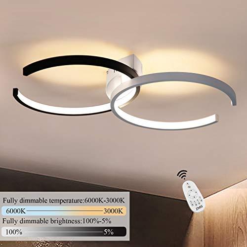 LED Deckenleuchte I CBJKTX Deckenlampe 54cm 37W dimmbar mit Fernbedienung Wohnzimmerlampe Eisen Kronleuchte Kinderzimmer Lampe Esszimmerlampe Schlafzimmerlampe Badezimmerlampe Flurlampe