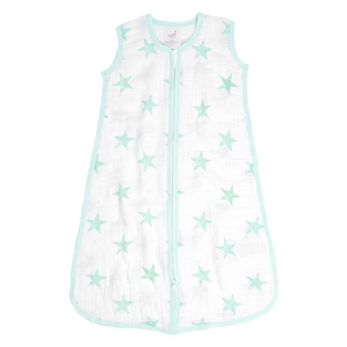 Aden by aden + anais Classic Sleeping Bag; 100% Cotton Muslin; Wearable Baby Blanket; Dream - Stars