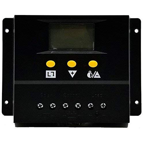 80A Solar Charge Controller PWM PV Solar Panel Charging Regulators with LCD Monitor 12V 24V Auto 960W 1360W Large amp Power Input Energy Controller ZHCSolar