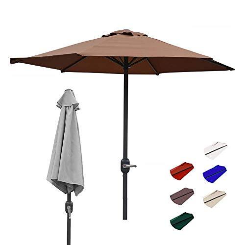 Patio Garden Umbrella, 200cm/6.5Ft Outdoor Shade, Beach Table With Ventilation Non-Fading Top, 8 Steel Ribs