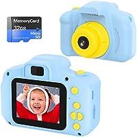 vatenick Cámara Digital para Niños Juguetes de Niña Regalos para Niños Pantalla HD de 2 Pulgadas 1080P Tarjeta de 32GB...