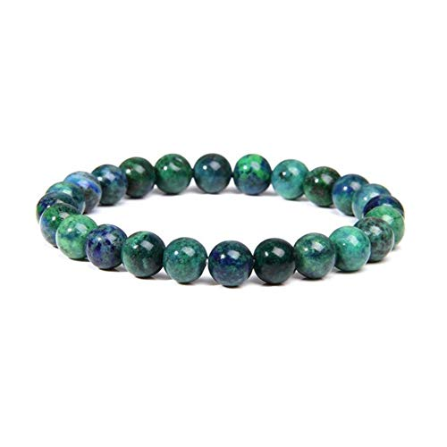 XYBB Hecho a Mano Natural de Piedra Turquesas la Pulsera de los Hombres de joyería Yoga Pulsera de Cuentas Hombres Mujeres (Color : 23CM, Size : Phoenix Lapis Lazuli)