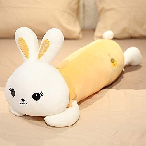 XINQ 50-110 cm Riesige Kaninchen mit Kleidung Plüsch Kissen Hase Sofa Kissen Gefüllte Tiere Spielzeug für Kinder Mädchen Geburtstagsgeschenk 110cm Gelbwaren (Color : Yellowlying, Size : 70cm)