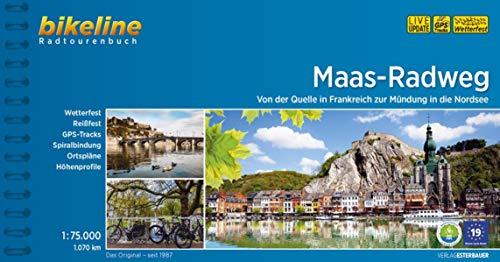 Maas-Radweg: Von der Quelle zur Mündung in die Nordsee (Bikeline Radtourenbücher)