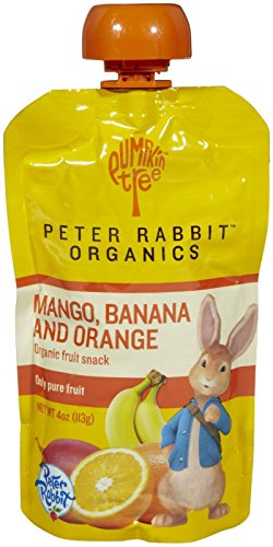 Peter Rabbit Organics Baby Mango, Banana, and Orange, 4 oz