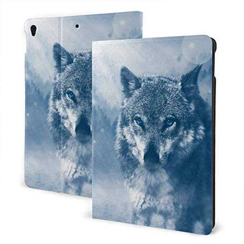 Funda Personalizada para iPad Wolf Predator Animal Imán Incorporado Auto Sleep Wake up Ángulo de visión Ajustable Tablets Funda Protectora para iPad 7th 10.2 Inch