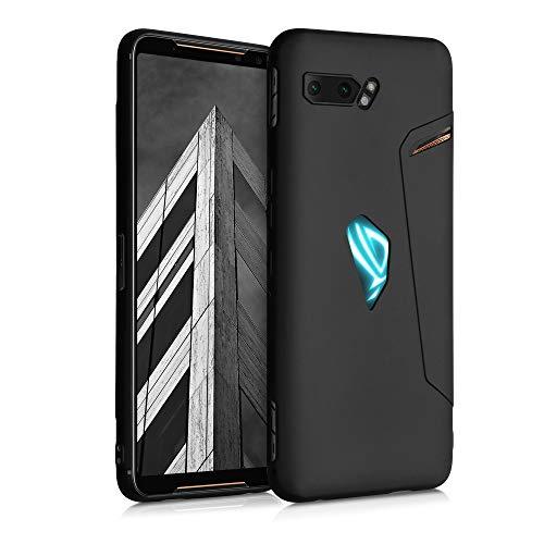 kwmobile Funda Compatible con ASUS ROG Phone II (ZS660KL) - Carcasa de TPU Silicona - Protector Trasero en Negro Mate