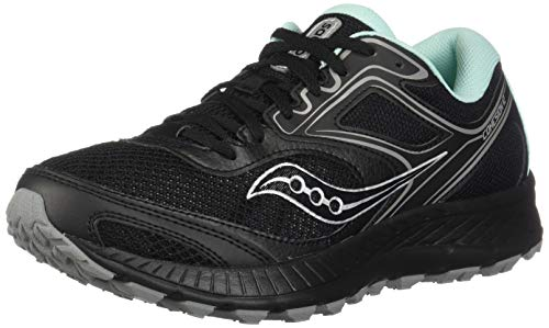 Saucony Women's VERSAFOAM Cohesion TR12 Trail Running Shoe, Black/Teal, 7.5 M US