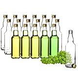 BigDean 18x Glasflaschen 500ml mit Schraubverschluss in...