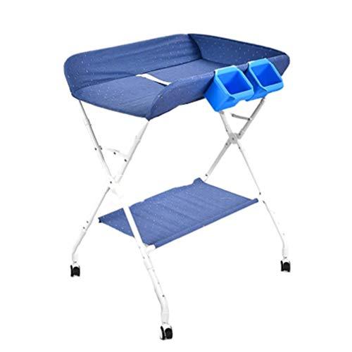 JIKLLSJID Multifunktions Faltbare Wickerolltisch Newborn Dresser Tabelle Folding Windel-Station mit Speicher Neugeborene Massage Touch-Table (Color : B)
