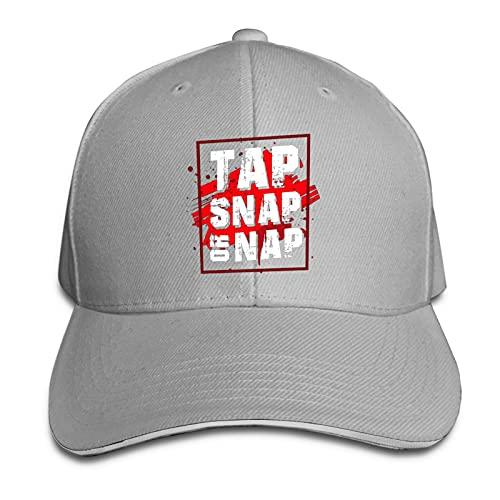 XCNGG Tap, Snap, Or Nap Gorra de Vaquero Unisex para Adultos Sombrero sándwich