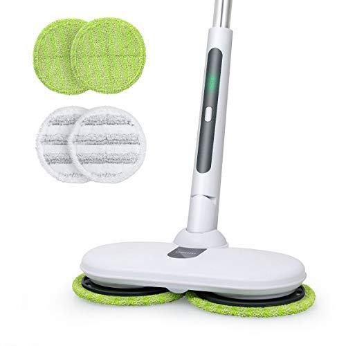回転 モップ クリーナー 電動モップ コードレス 充電自走式 伸縮可能 軽量 畳 床掃除 窓拭き 拭き掃除 掃除道具OGORI
