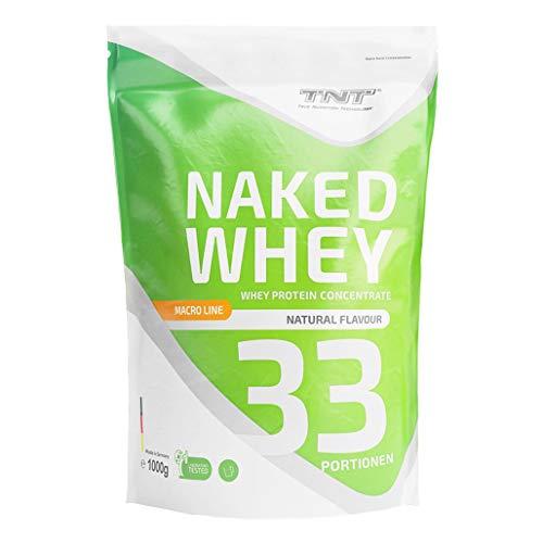TNT Naked Whey + Laktase – 1kg Whey Protein Konzentrat – Eiweißpulver mit toller Löslichkeit & Geschmack – Proteinpulver (Vanille)