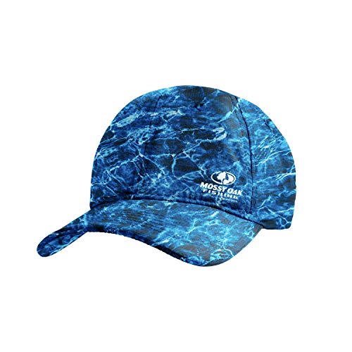 MISSION Cooling Performance Hat- Unisex Baseball Cap, Cools When Wet- Mossy Oak Agua Marlin