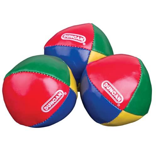 Duncan Juggling Balls - [Pack of 3] Multicolor, Vinyl Shells, Circus Balls with 4 Panel Design,...