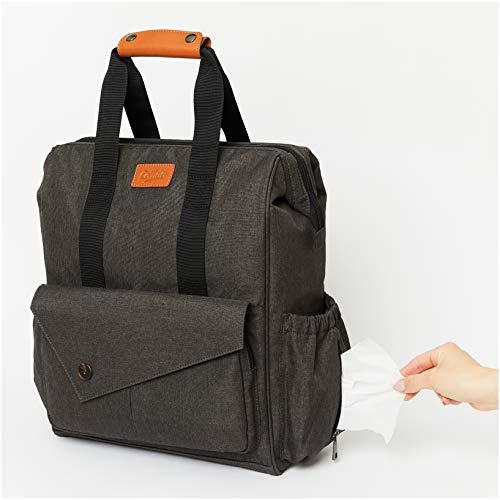 Collido Baby Wickelrucksack | Wickeltasche mit Wickelunterlage | Wasserabweisend | 12 Fächer ca. 28 Liter | Der große Reise-Rucksack für Mamas | Hoher Tragekomfort | Sauber und robust verarbeitet