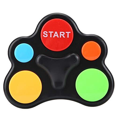 Juguete de memoria para niños, interacción de plástico inteligente, luz de música, juego de entrenamiento de memoria, juguete educativo para niños y niñas de 3 4 5 6 7 8 (anomalía con una sola mano)