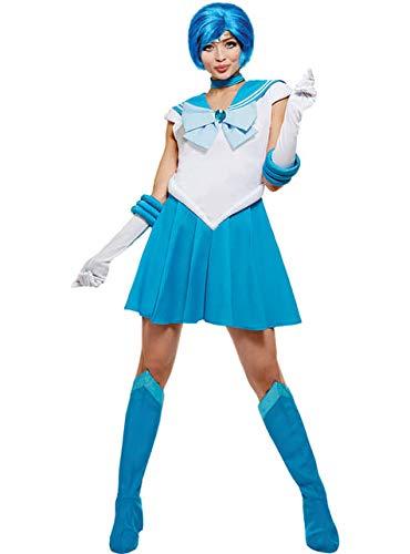 Funidelia | Costume Sailor Moon - Mercurio Ufficiale per Donna Taglia XXL ▶ Anime, Cosplay, Usagi Tsukino, Cartoni Animati - Azzurro/Blu