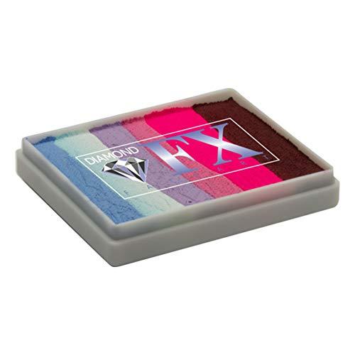 Diamond FX Split Cake - Party Butterfly RS50-79, gâteaux arc-en-ciel de qualité professionnelle, peinture faciale activée à l'eau, 1,76 oz / 50 g