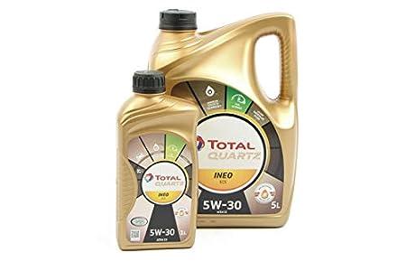Aceite de motor TOTAL QUARTZ INEO ECS 5W30 6 litros (1x5 lts + 1x1 lt)