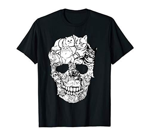 Cat Skull Shirt - Kitty Skeleton Halloween Costume Skull Cat T-Shirt