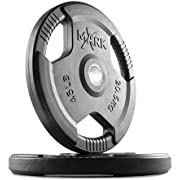XMark Olympic Plates, Pairs and Sets, Olympic Weight Plates, Rubber Coated Olympic Weight Plate Set, Bumper Plates, Olympic Barbell Weight Set for Home