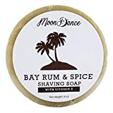 Shave Soap for Men, Bay Rum Scent with Rich, Dense Lather - Made in the USA Shaving Soap Puck Perfectly Sized for Your Shaving Bowl - Handmade Soap Natural Shaving Cream