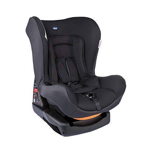 Chicco Cosmos Siège Auto Bébé Inclinable 0-18 kg, Groupe 0+/1 pour Enfants de 0 à 4 Ans, Facile à Installer, avec Coussin Réducteur, Rembourrage Souple - Noir