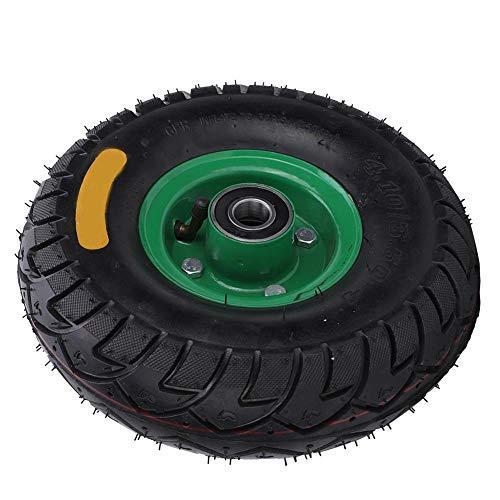 Neumático para carro de herramientas, 10.5in 4.10/3.50-4 Rodamiento 6204-2RS con cojinete inflable de goma para carro de herramientas Rueda de neumático, Neumático Rueda Saco Carro