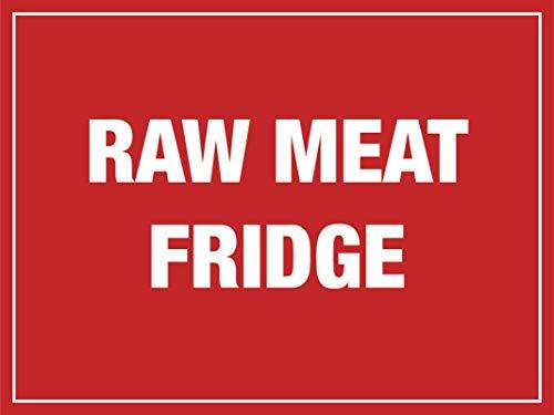 THS Pegatina de vinilo para nevera de carne cruda para restaurantes y cafeterías