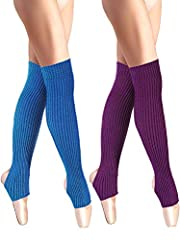 Package contents: 2 pairs stirrup leg warmers with classic weave pattern design, convenient for you to replace; These cotton leggings can stay warm through all sorts of activities, they are fit for women and girl, nice stretchy, not too thick or too ...