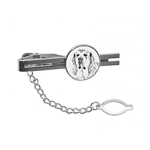 ArtDog Ltd. Spanischer Mastiff, Krawatte, Stift, Klammer mit Einem Bild eines Hundes, elegant und lässig Stil