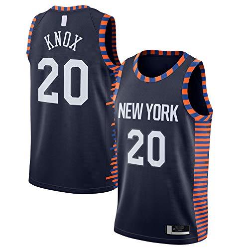 Kevin Camiseta York Basketball Jersey New Sportswear Knox II Mesh Knicks Cómodo #20 2019/20 Acabado Swingman Jersey Azul Marino - City Edition-XXL