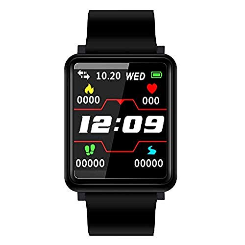 Pulsera inteligente Fitness Tracker Con Oxígeno en Sangre Presión Arterial Relojes Hombres Smartwatch Actividad Tracker Para Mujeres Negro